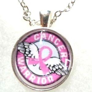 Cancer Warrior Necklace or Keyring